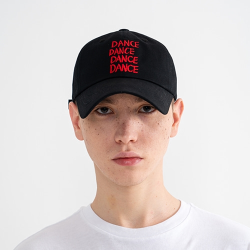 "[Rolling Studios]""DANCE"" Embroidered Ball Cap Black"
