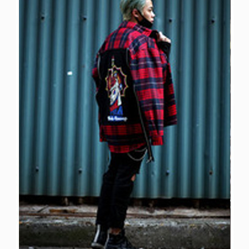 [Weksnoop]Flannel shirt - RED