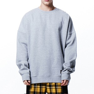 [OVERTHEONE][046] OVER FIT HEAVY SWEATSHIRT (GRAY)