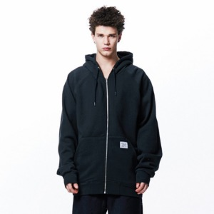 [OVERTHEONE][112]OVER FIT HEAVY ZIP HOODIE(BLACK)