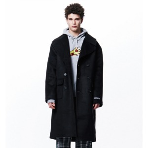 [OVERTHEONE][051] WIDE LAPEL DOUBLE COAT (BLACK)