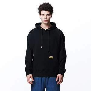 [OVERTHEONE][107] BASIC FIT RAGLAN HOODIE (BLACK)