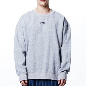 [OVERTHEONE][018] OVER LETTERING BOXY SWEATSHIRT