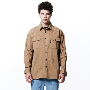 [OVERTHEONE][106] CAMO PATTERN POCKET SHIRTS (BEIGE)