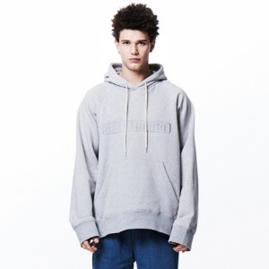 [OVERTHEONE][010] OVER THE ONE SIGNATURE BOXY HOODIE (gray)