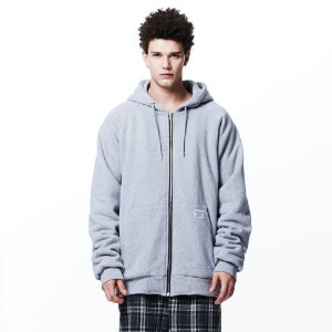 [OVERTHEONE][053] 양털기모 BOA OVER FIT HEAVY ZIP HOODIE (GRAY)