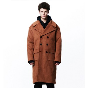 [OVERTHEONE][051] WIDE LAPEL DOUBLE COAT (CAMEL)