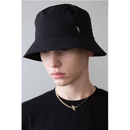 [ANOTHERYOUTH] logo bucket hat - BLACK
