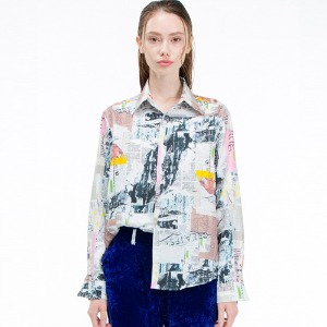 [THEGREATEST] 19FW02 COLLAGE SHIRTS WOMAN
