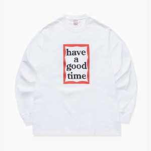 [have a good time] FRAME L/S TEE - White