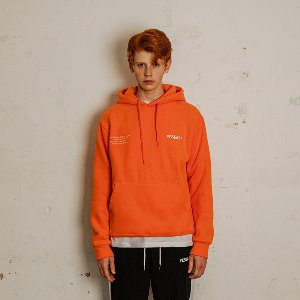 [YESEASY]  EMBROIDERY HOODIE - ORANGE