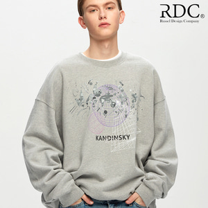 [RDC] KANDINSKY GRID SHAPES GREY SWEAT SHIRTS
