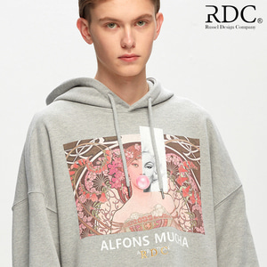 [RDC] ALFONS MUCHA ATTRACTION GREY HOODIE