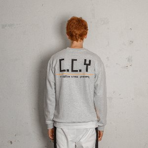[YESEASY]  CCY SWEATSHIRT - Light Grey