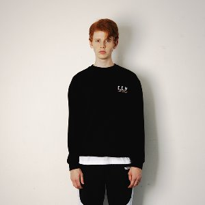 [YESEASY]  CCY SWEATSHIRT - BLACK
