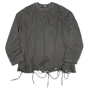 [RUNDS] pigment grunge long sleeve (charcoal)
