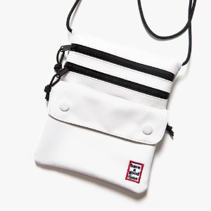 [have a good time] Frame Faux Leather Shoulder Bag - White