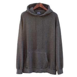 [RUNDS] pigment damage hoodie (charcoal)
