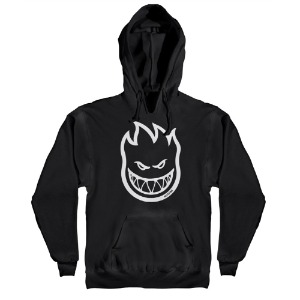 [Spitfire] BIGHEAD Pullover Hood - PIGMENT DYE BLACK / WHITE Prints 53110020AT