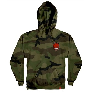 [Spitfire] LIL BIGHEAD FILL Pullover Hood - FORREST CAMO / RED Print 53110087