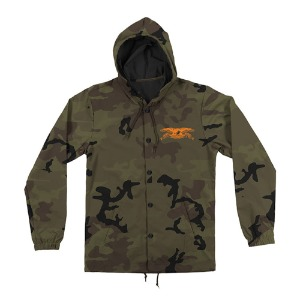 [Anti Hero] STOCK BASIC EAGLE HOODED COACHES JACKET - CAMO/BK