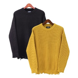 [RUNDS] damage knitwear (2color)