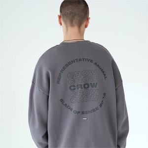 [TENBLADE] Crow sweat shirt-dark-gray