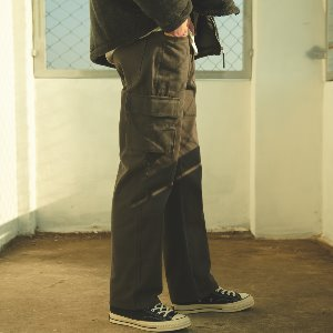 [ANOUTFIT] UNISEX UTILITY STANDARD CARGO PANTS CHARCOAL
