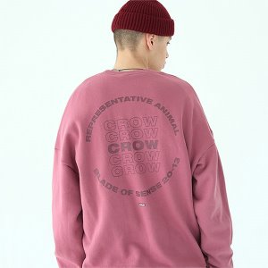 [TENBLADE] Crow sweat shirt-dark-pink
