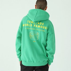 [TENBLADE] World map hoodie-mint-green