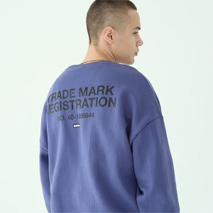 [TENBLADE] Registration sweat shirt-dark-blue