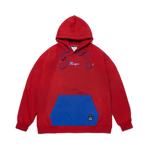 [STIGMA]PARAGON OVERSIZED HEAVY SWEAT HOODIE - RED