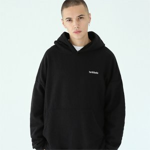 [TENBLADE] Over fit hunter knit hoodie-black
