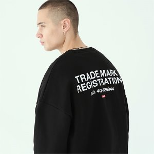 [TENBLADE] Registration sweat shirt-black