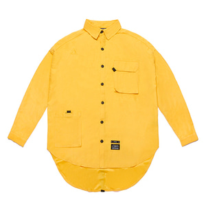 [STIGMA]WASHED TECH OVERSIZED SHIRTS - YELLOW