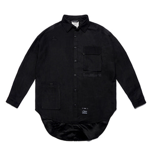 [STIGMA]WASHED TECH OVERSIZED SHIRTS - BLACK