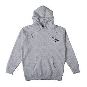 [Anti Hero] LIL PIGEON Pullover Hooded Sweatshirt - GREY HEAHTER/MULTI-COLORED 53120028B