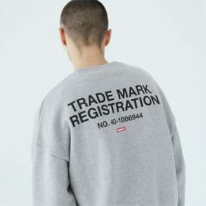 [TENBLADE] Registration sweat shirt-gray