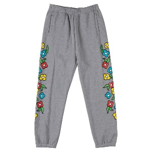 [Krooked] SWEATPANTS Sweatpants - HEATHER GREY/MULTI-COLOR 55023005