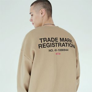 [TENBLADE] Registration sweat shirt-beige