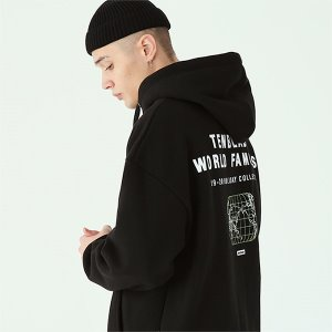 [TENBLADE] World map hoodie-black