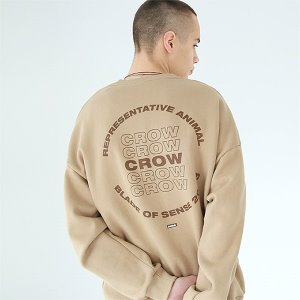 [TENBLADE] Crow sweat shirt-beige