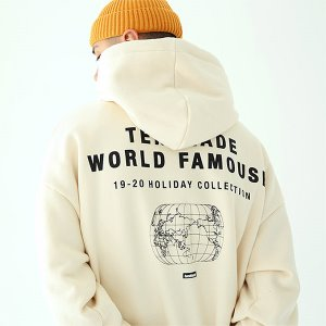 [TENBLADE] World map hoodie-cream