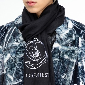 [THEGREATEST] GT19WINTER 11 Needlepoint Muffler BLACK