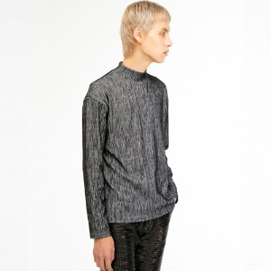 [THEGREATEST] GT19WINTER 02 Stripe Turtleneck BLACK