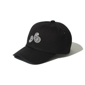[KRUCHI] Paisley 6 Panel Cap (Black/wh)