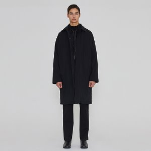 [IRONYPORNO]UNISEX DUCK DOWN MAC COAT IRO011 BLACK