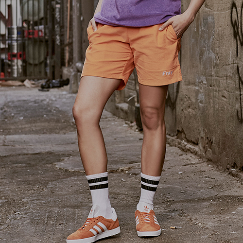 [Fresh anti youth] Corduroy Short Pants - Orange