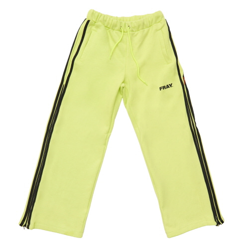 [FRAY] SIDE ZIPUP WIDE PANTS - NEON