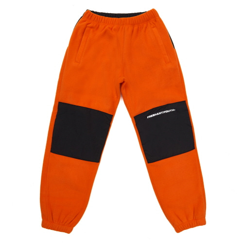 [Fresh anti youth] CUT FLEECE PANTS - ORANGE